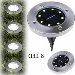 Garden 8LED Solar Buried Floor Lamps Outdoor Pathway Decking