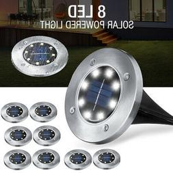 8Pc Solar Buried Floor LED Light Under Ground Lamp Outdoor P