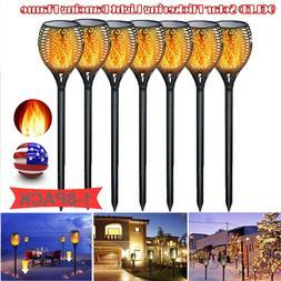 8x 96LED Solar Torch Garden Light Dancing Flickering Fire Fl