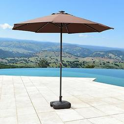 9 ft solar led lights patio umbrella
