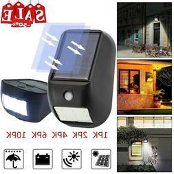 9 LED Solar Power Light PIR Motion Sensor Garden Security Ou