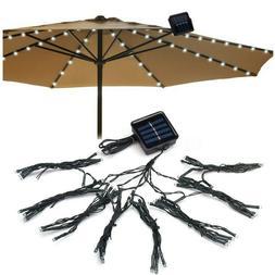 "9"" LED Solar Prowed Patio Umbrella Lights Waterproof Outdoor"
