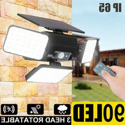 90 LED New Solar Lights Outdoor Motion Sensor Solar Street L