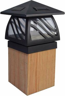 Moonrays 91196 Solar Powered LED Post Cap Light, Black Finis
