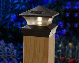 Moonrays 91268 Solar-Powered Post Cap LED Light for 6 by 6 P