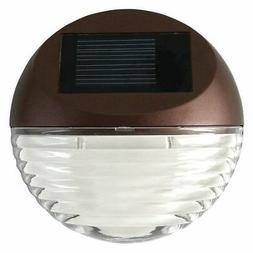 Moonrays 95027 Solar Powered Round Mini LED Deck Light, Bron