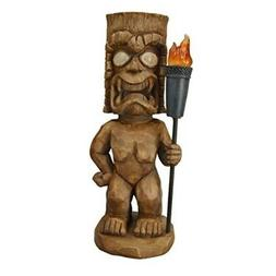Moonrays 95960 Tiki Themed Outdoor Solar Light, Garden Gnome
