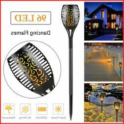 96 LED 3-Lighting Modes Solar Torch Light Dancing Flickering