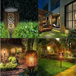 96 LED Solar Flickering Flame Torch Light Outdoor Decoration