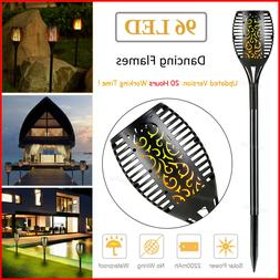 96 LED Waterproof Solar Tiki Torch Light Dancing Flickering