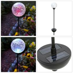 Moonrays 99924 Solar Powered Color-Changing LED Crackle Glas