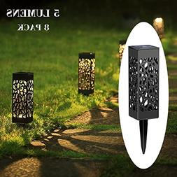 Maggift 5 Lumens Solar Pathway Lights Solar Garden Lights So