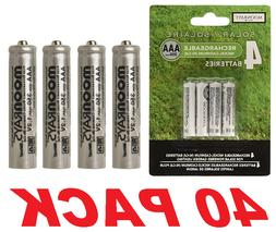 Moonrays 97126 Rechargeable NiCd AAA Batteries for Solar Pow