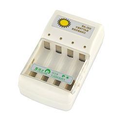 Samyo Solar Battery Charger for 4 pcs AA/AAA NI-MH and NI-CD