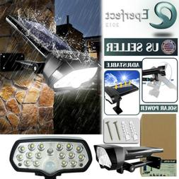 Adjustable LED Solar Power Light PIR Motion Sensor Spot Gard