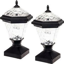2 Pack GreenLighting Adonia Solar Post Cap Light for 4 x 4 W