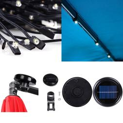 AMPERSAND 10 Ft. 8 Rib Offset Patio Umbrella Solar String Li