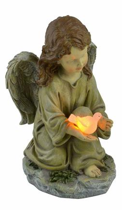 Angel Dove Statue Solar Powered LED Outdoor Light Polyresin