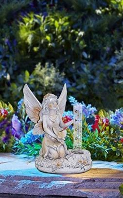 Angel Fairy Figurine Statue Garden Decor Outdoor Solar Light