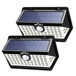 LITOM Basics 63 LED Solar Lights Outdoor, 270° Wide Angle W