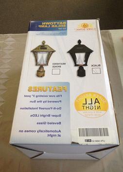 Gama Sonic Baytown Solar Lamp GS-106F Black Super Bright LED