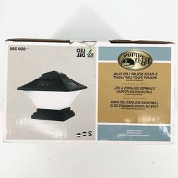 Hampton Bay Black Dual Mount Solar LED Post Cap Lights 2-Pac