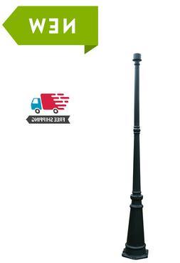 black outdoor post light pole lamp garden