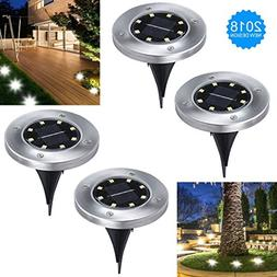 Bokemar Solar Ground Lights Outdoor Decorative Garden Pathwa