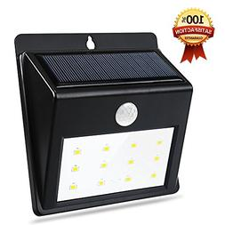 QPAU Bright 12 LED Waterproof Solar Light with 3 Mode Motion