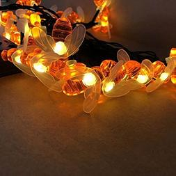 JOJOO Busy Bee 30LED Solar String Lights Outdoor Garden Flow