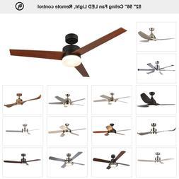 "Ceiling Fan 52"" 56'' Brushed Nickel / Old Bronze w/ LED Ligh"