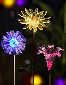 BRIGHT ZEAL BZ3  LED Color Changing Solar Stake Lights Outdo