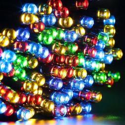 Qedertek Christmas Lights Solar String 72ft 200 LED Fairy 8