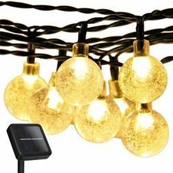 Christmas Solar Globe String Lights,Addlon LED Fairy Lights,
