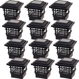 12 Pack GreenLighting Classica High Lumen Plastic Solar Post