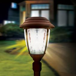 CLEARANCE Gama Sonic CANDELA Solar Lamp Post with GS Solar L