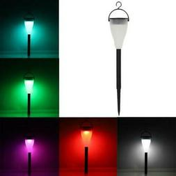 7-Color Changing Solar Power Lights Outdoor LED Power Lawn L