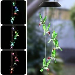 color changing led solar powered hummingbird wind