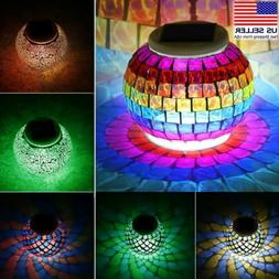 Color Changing Solar Powered Glass Ball Led Garden Light Out