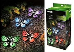 Colorful Butterfly Garden Path Solar Lights Decorative Outdo