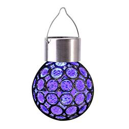 Colorful Solar Lights Ball Outdoor Hanging Decorative Garden