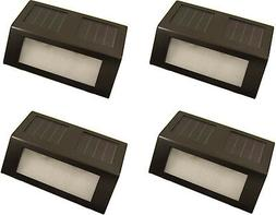 Dark Brown Stainless Solar Power Stair Step and Wall Light W