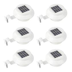 6 Pack Deal - Outdoor Solar Gutter LED Lights - White Sun Po