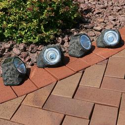 Sunnydaze Decorative Garden Rock Solar Light with White LED