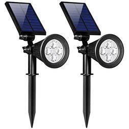DREAM MASTER Solar Lights, 2-in-1 Waterproof 4 LED Solar Spo
