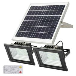 Dual 86-LED Solar Flood Lights Patio Driveway Lawn Shed Ligh