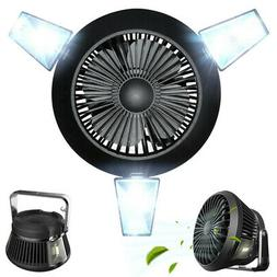 E27 Solar LED Garage Light Bulb Deformable Ceiling Light Fan