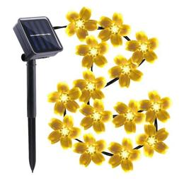 Qedertek Easter Solar String Lights, Cherry Blossom 23ft 50