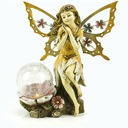 Fairy Solar Garden Light with Color Changing LED Crackled Gl