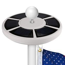 Flag Pole Lights Solar Powered Christmas Gift, American Flag